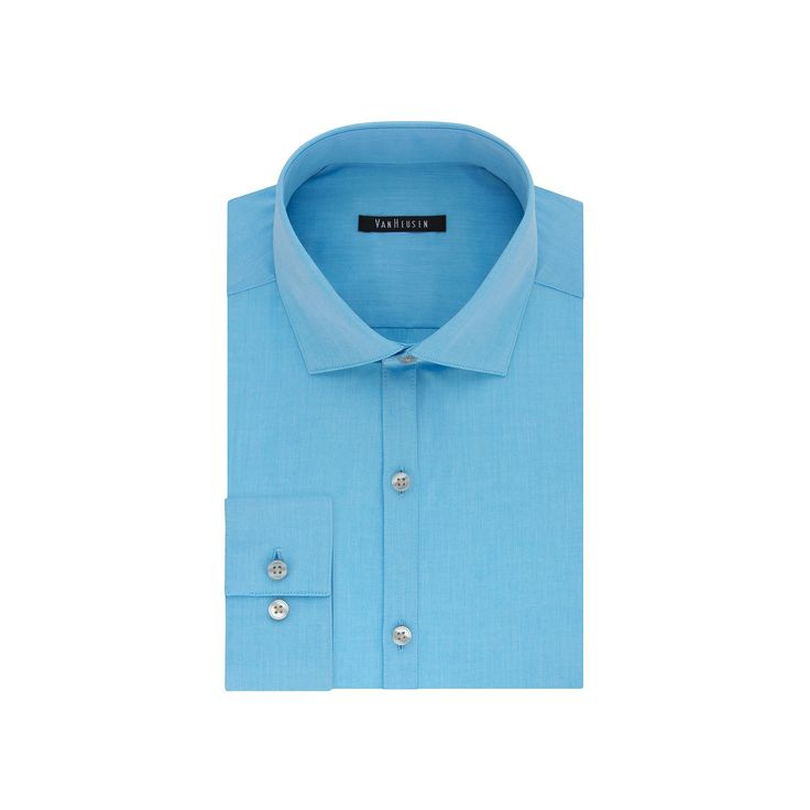 Big & Tall Van Heusen Flex Collar Slim Tall Dress Shirt, Men's, Size: 18.5 35-36, Turquoise/Blue (Turq/Aqua)