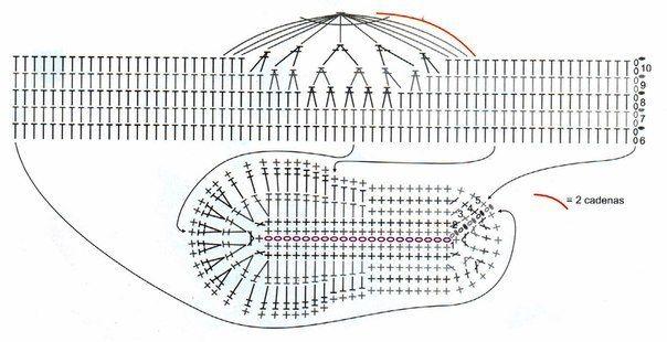 Baby shoes crochet - pattern