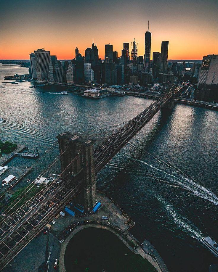 "newyorkcityfeelings: ""New York's Sunset by @mslovejoy """