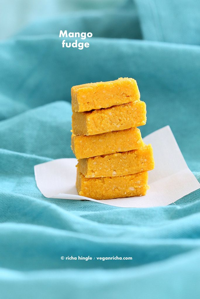 Vegan Mango Burfi. Mango Fudge Bars. Indian Recipe