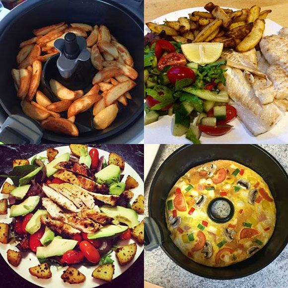 Wat voor gerechten kun je maken met een Airfryer of Actifry? Alleen patat en snacks? Nee, je kunt bakken, braden, koken en grillen. Laat je inspireren.