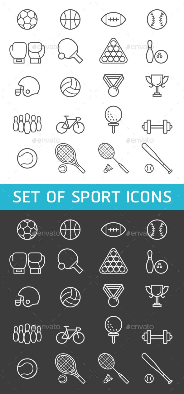 Set of Sport Icons. Download here: https://graphicriver.net/item/set-of-sport-icons/17542122?ref=ksioks
