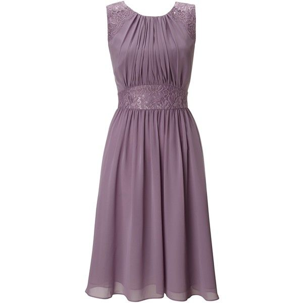 Ariella Alia Chiffon Short Dress, Lavender ($135) ❤ liked on Polyvore featuring dresses, short dresses, plus size prom dresses, purple cocktail dress, chiffon cocktail dress and plus size summer dresses