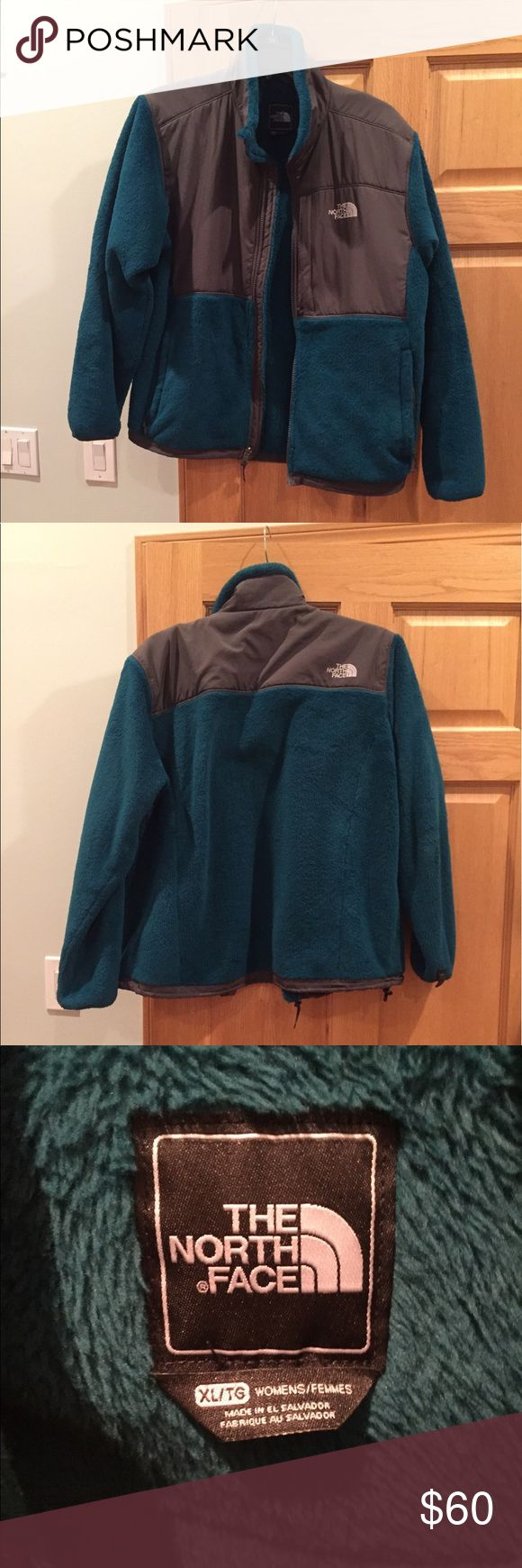 North Face Teal Fuzzy Ladies Jacket XL In good condition, open to offers North Face Jackets & Coats
