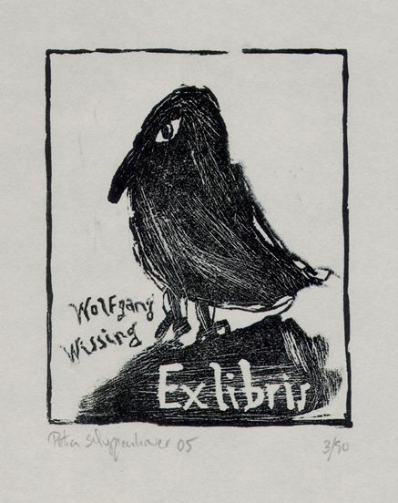 ≡ Bookplate Estate ≡ vintage ex libris labels︱artful book plates - Wolfgang Wussing