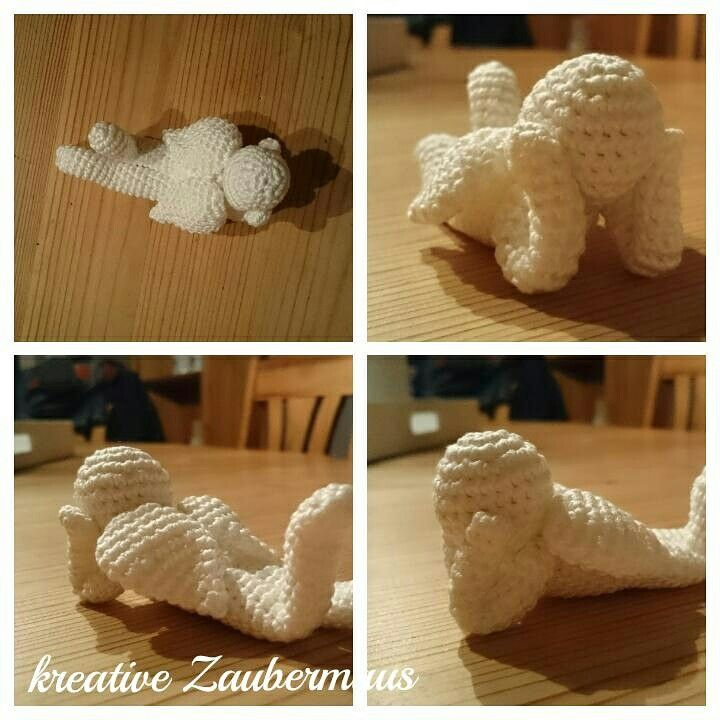 Ein liegendes Engelchen Made by kreative Zaubermaus