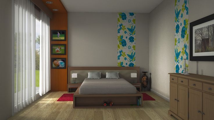 Projekt sypialni rodziców - wystrój wnętrz