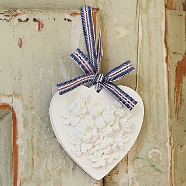 Clean Cotton Scented Clay Heart - From Lakeland