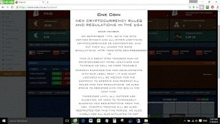 New Onecoin USA regulations expected to be finalized soon