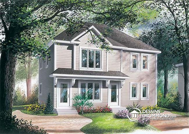 13 best Plan 4 1 2 (1 étage) images on Pinterest Little houses