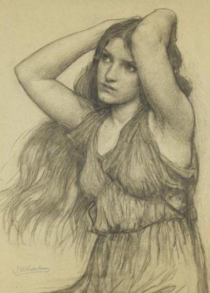 Pre Raphaelite Art: John William Waterhouse - Flora