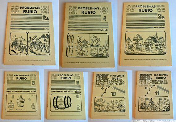 Cuaderno de cálculo Rubio de los años 80