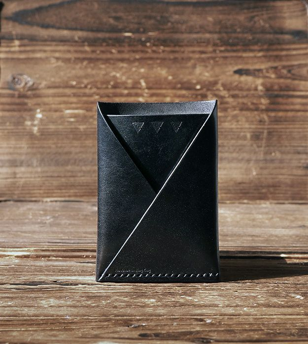 """NEW"" Leather Card Wallet #Black  ES Corner www.es-corner.com"