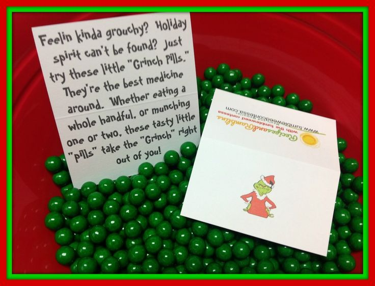 Grinch Pills! Know a Grinch? Makes a great, little or big, you choose, gift idea. #thegrinch