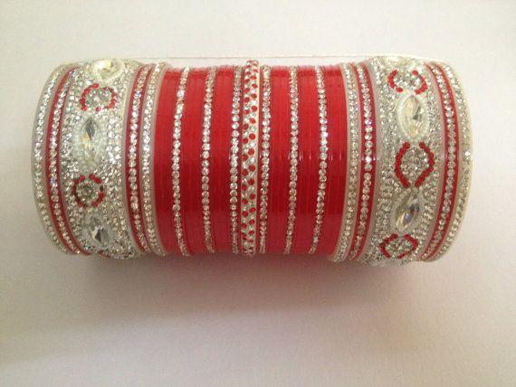 Bridal Bangle or Bridal Chura by JewelFancies on Etsy