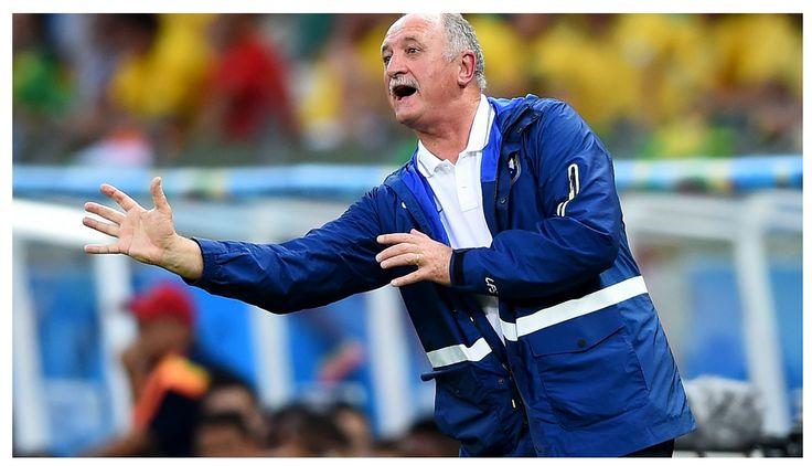 Head coach Luiz Felipe Scolari of Brazil gestures