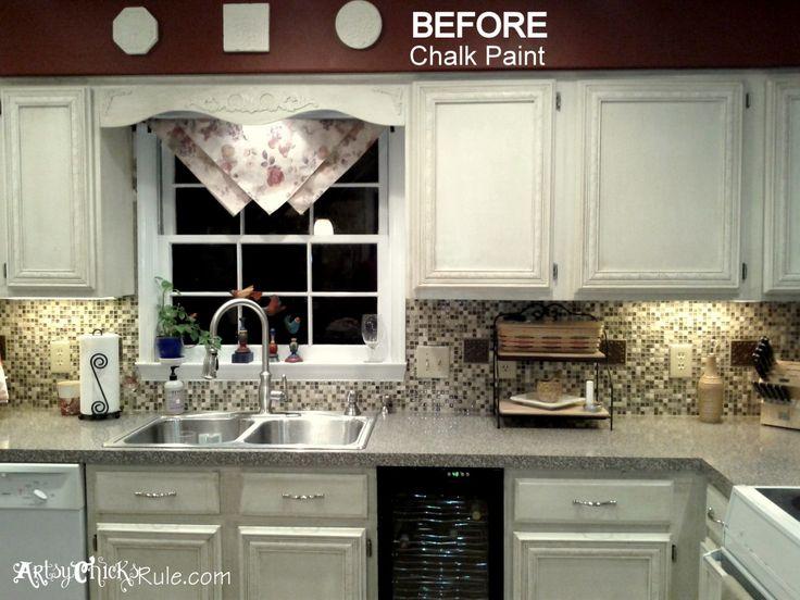 kitchen cabinet makeover annie sloan chalk paint - Chalk Paint Ideas Kitchen
