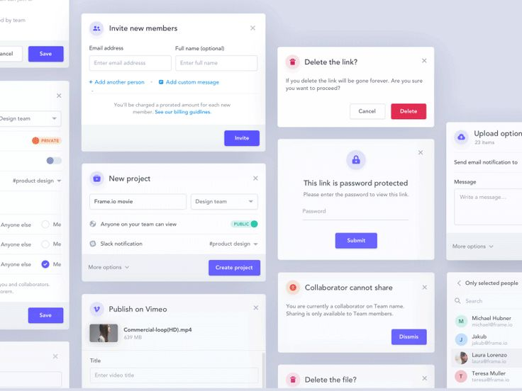 Modal windows by Jakub Antalík - Dribbble