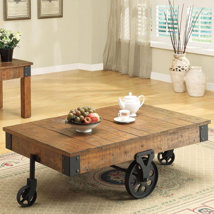 Accent Tables Distressed Country Wagon Coffee Table By