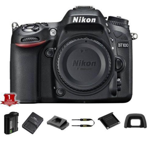 52862 photo-video NEW Nikon D7100 24.1 MP Digital SLR Camera Body w/ 1yr Warranty Bundle  BUY IT NOW ONLY  $628.58 NEW Nikon D7100 24.1 MP Digital SLR Camera Body w/ 1yr Warranty Bundle...