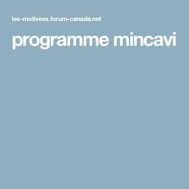 programme mincavi