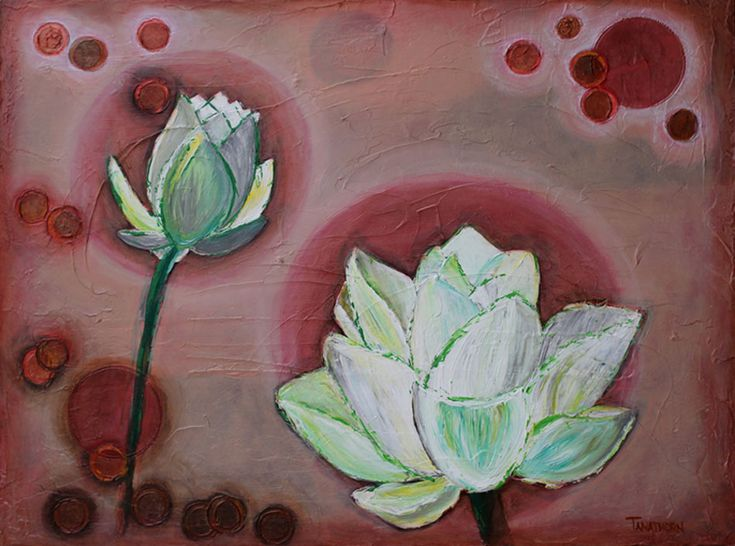 9 best Amy Tanathorn Art - Lotus Paintings images on ...