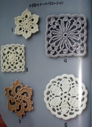 Japanese crochet motif patterns