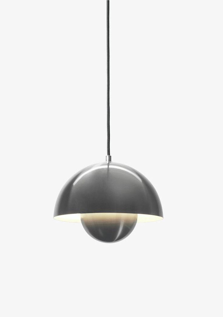 """(8) FINN – Verner Pantons """"Flower Pot"""" Taklampe i rustfritt stål"""