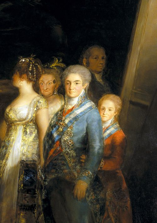 Goya. Detail from Charles IV of Spain and His Family, 1801.
