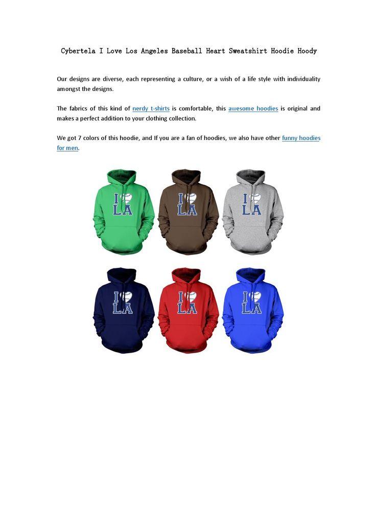Cybertela i love los angeles baseball heart sweatshirt hoodie hoody