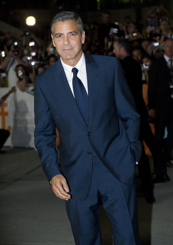 George Clooney always make a suit look good