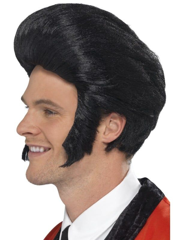 Rock N/' Roll Sideburns 50/'s Elvis Fancy Dress Halloween Adult Costume Accessory