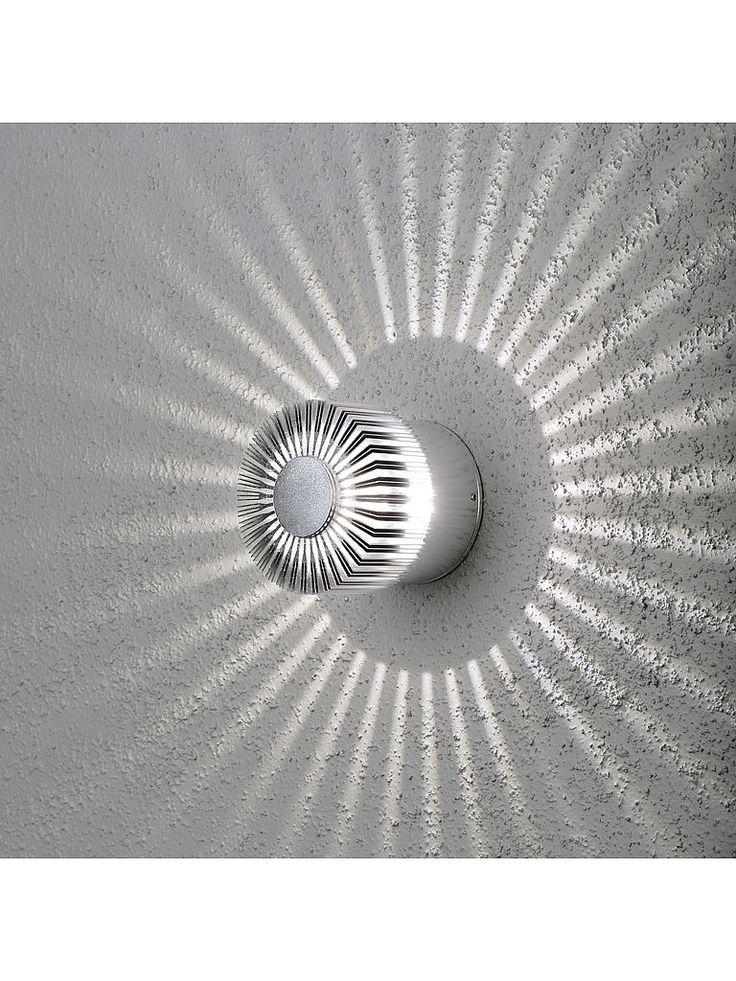 Grå utomhuslampa - Konstsmide Monza LED vägglampa / taklampa