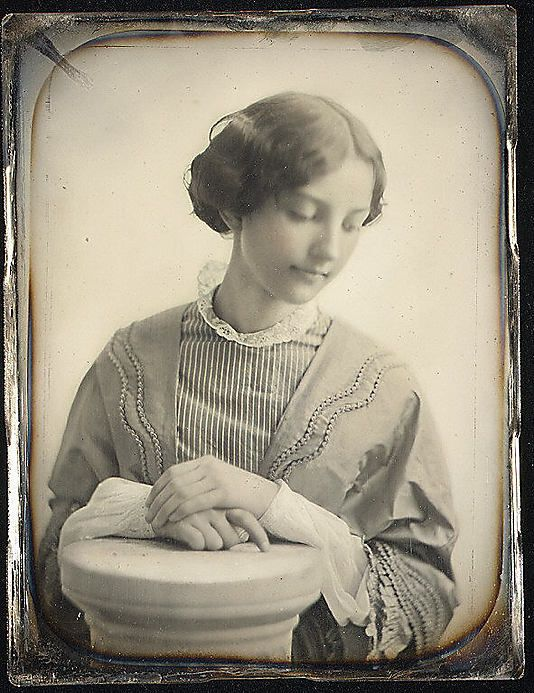 Miss Hodges of Salem, c. 1850, daguerreotype; photographer: Josiah Johnson Hawes (1808-1891)
