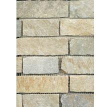 Schiefer-Natursteinmosaik Brick beige 30,5x30,5 cm