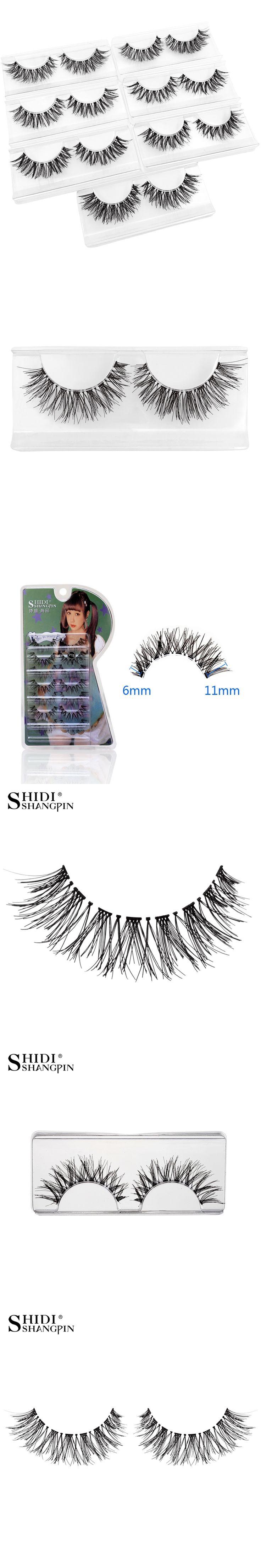 0V15# 7 pairs Natural Eyelashes Winged Handmade Makeup Fake Lashes False Eyelashes Lot Lash Extension Kit for maquiagem
