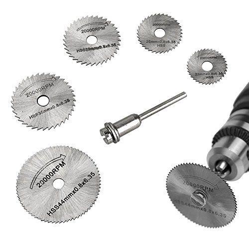 TILY 6PCS HSS Cutting Saw Blades Wood Disques Circulaires Dremel Set d'outils Rotatifs: Price:8.99Le forfait comprend: 1x HSS Saw Blade…