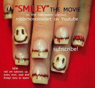 """Nail-art by Robin Moses: """"dark nail art"""" """"scary nail art"""" """"halloween nail art"""" """"halloween nails"""" """"scary movie nails"""" """"scary nails"""" """"zombie n..."""