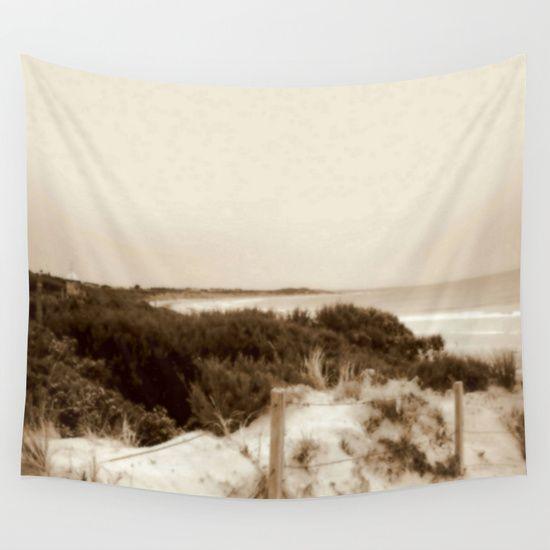 Seascape, Beach, Fencing, Path, Waves, Bird Watching Nest, Nature, Sepia, South Australia.