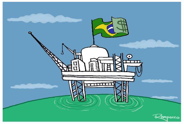"""As empresas americanas e a eles associadas – Chevron, Exxon, BP, Shell, as remanescentes das """"7 Irmãs"""" ficaram sem condições políticas de formar um consórcio exclusivo capaz de enfrentar o capitaneado pelo Brasil. Tanto é assim q a Folha, agora (ontem) à tarde, anuncia a decisão da BP, BG e Exxon de não participarem do leilão. desistiram por uma única razão: sabem q não vão levar. Como as demais sabem q não irão, se não forem procurar um espacinho na composição entre a Petrobras e os…"""