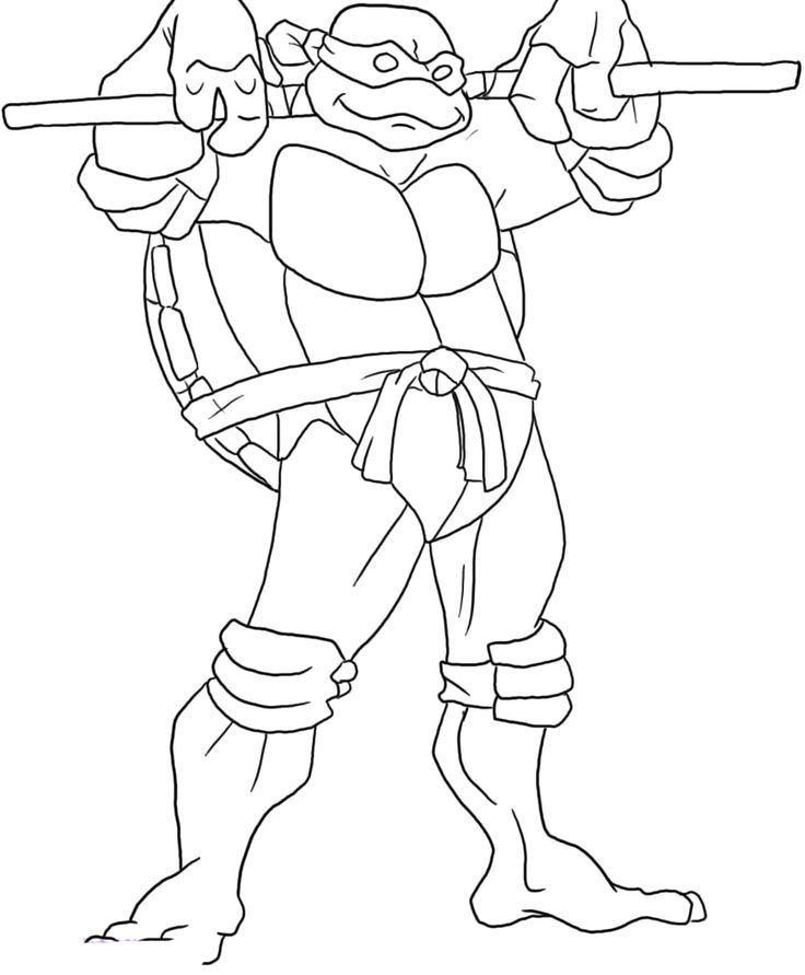 Mighty Turtle Coloring Page