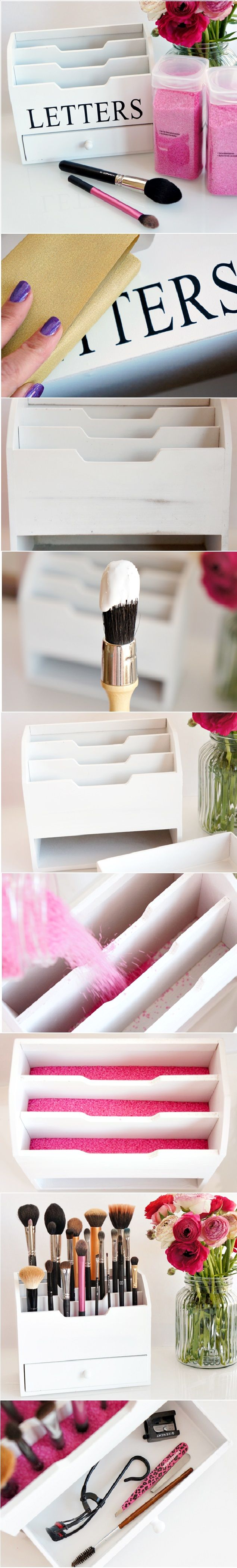 DIY brush holder More
