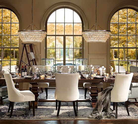 Pottery Barn Dining Room Lamp: Best 25+ Round Chandelier Ideas On Pinterest