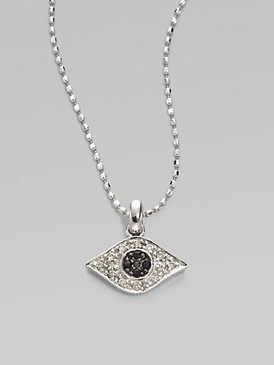 14 best evil eye images on pinterest evil eye evil eye sydney evan diamond blue sapphire 14k white gold evil eye necklace at london jewelers aloadofball Gallery