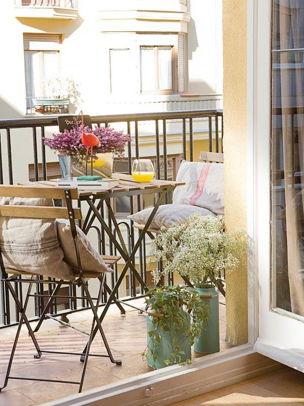 17 mejores ideas sobre patio peque o en pinterest for Decoracion balcon departamento