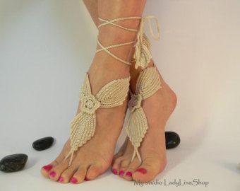 Crochet sandalias pies descalzos pies descalzos por LadyAlinaShop