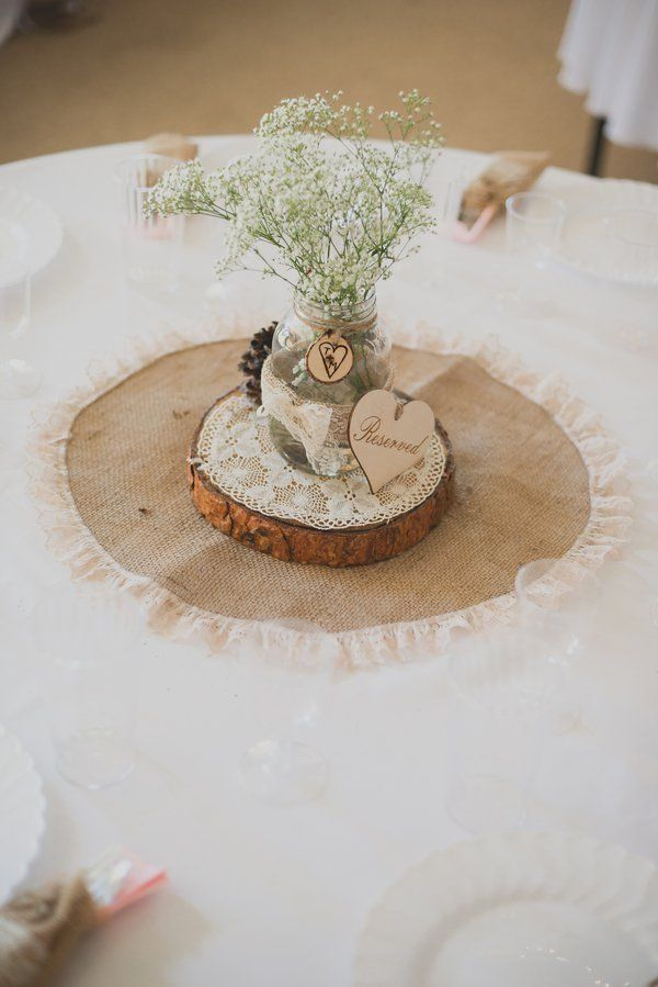 With Burlap Wedding Decoration Rustic Wedding Theme Rustic Wedding