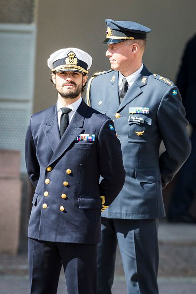 Prince Carl Phillip of Sweden during a celebration of King Carl Gustav's 71st birthday at the Royal Palace on April 30, 2017 in Stockholm, Sweden.