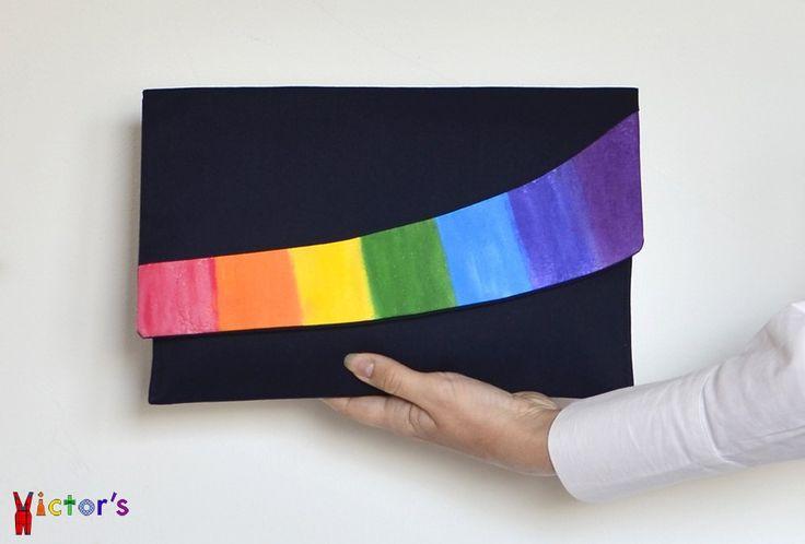 """""""Rainbow"""" Statement Clutch Bag"""