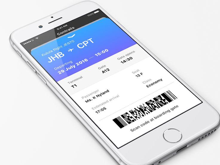 Contrails - Boarding Pass UI